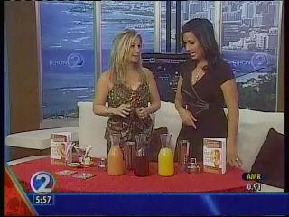 "Party Girl diet Author Aprilaanne Hurley with KHON Co-Anchor Oleana Hue Shake Things Up Live on ""Wake Up 2-Day"" Live"