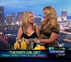 Fox 5's Rachel; Smith and Party girl Diet Author Aprilanne Hurley on KVVU's More Access Set